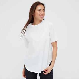 UNIQLO - 【新品】UNIQLO(ユニクロ)スムースコットンラウンドヘムロングTシャツ L