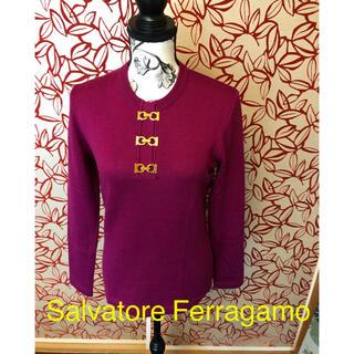 サルヴァトーレフェラガモ(Salvatore Ferragamo)のSalvatore Ferragamo ガンチーニ金具 セーター ウール(ニット/セーター)