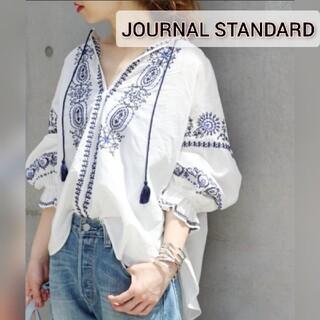 JOURNAL STANDARD - JOURNAL STANDARD 刺繍ブラウス 袖ボリュームバルーン 白シャツ