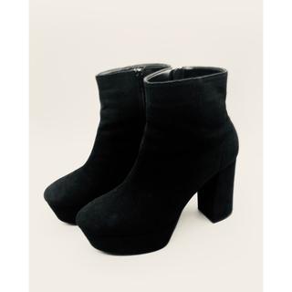 ESPERANZA - エスペランサ ブーツ ショートブーツ 黒 サイズL  スエード 厚底