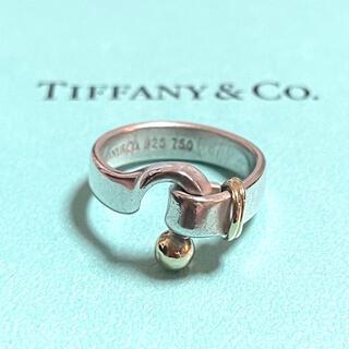 ティファニー(Tiffany & Co.)のティファニー フックアンドアイ リング ラブノット 8号 指輪 925 750 (リング(指輪))