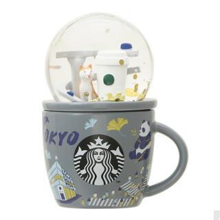 スターバックスコーヒー(Starbucks Coffee)の☆STARBUCKS☆コレクタブルスノーグローブ&マグTOKYO89ml(グラス/カップ)