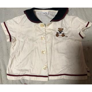 ベビーディオール(baby Dior)のDior ベビーTシャツ 80サイズ セーラー 熊の刺繍 シミあり(Tシャツ)
