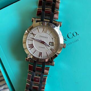 ティファニー(Tiffany & Co.)のティファニー アトラスジェンヌ 自動巻 稼動品 裏スケ ステンレス×ラバー(腕時計(アナログ))