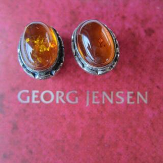 ジョージジェンセン(Georg Jensen)の新品!レア! ジョージ・ジェンセン 2001アンバークリップ(イヤリング)(イヤリング)