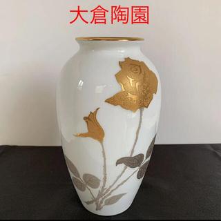 大倉陶園 - 大倉陶園  金蝕バラ 花瓶 花生 花器