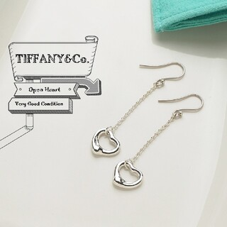 Tiffany & Co. - ティファニー 新品仕上げ オープンハート ドロップ ピアス