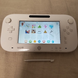 WiiUゲームパッド 白 のみ(タッチペン付き) 動作確認済み