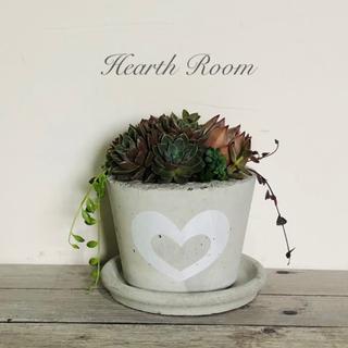 プランター 植木鉢 Love Heart White(プランター)