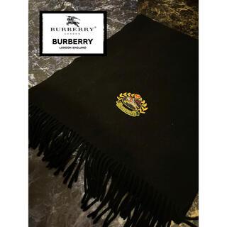 バーバリー(BURBERRY)のバーバリー  Burberry マフラー フリンジ ストール 大判 ロゴ(マフラー)