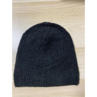 ムジルシリョウヒン(MUJI (無印良品))の無印良品 ブークレワッチ 55~59cm・ブラック(ニット帽/ビーニー)