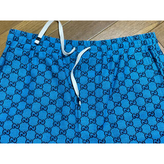 Gucci - 期間限定●GUCCIグッチGGマルチカラーバミューダパンツ44新品ターコイズ色