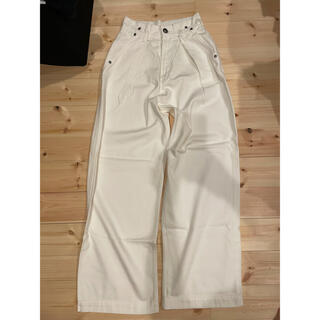 ダブルスタンダードクロージング(DOUBLE STANDARD CLOTHING)のダブスタ ハイウエスト白デニムパンツ(デニム/ジーンズ)