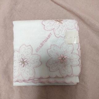 JILLSTUART - 新品未使用 ジルスチュアート ハンカチ 白 桜 ピンク