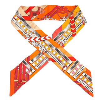 エルメス(Hermes)のエルメス  スカーフ  ツイリー   オレンジ(スカーフ)