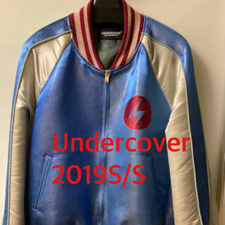 UNDERCOVER - UNDERCOVER 19S/S デビッドボウイ スカジャン サイズ2 ブルー
