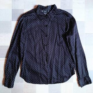 アニエスベー(agnes b.)の90's agnes b. ドット シャツ ブラック(シャツ/ブラウス(長袖/七分))