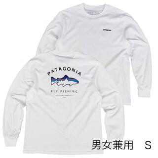 パタゴニア(patagonia)のパタゴニアT フィッツロイ 白 S フィッシング キャンプ アウトドア(Tシャツ(長袖/七分))