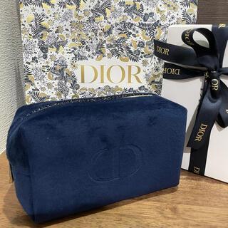 ディオール(Dior)のディオール【クリスマス2021限定ノベルティ】ネイビー ポーチ 新品未使用(ポーチ)