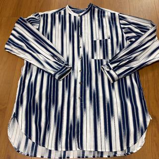 ブルーブルー(BLUE BLUE)のBLUE BLUE ブルーブルー バンドカラー ロング丈 シャツ(シャツ)
