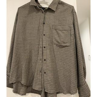ミラオーウェン(Mila Owen)のビッグシルエットボウタイネルシャツ(シャツ/ブラウス(長袖/七分))