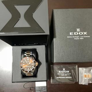 EDOX - 値下げ エドックス EDOX スカイダイバー70s コンビ 中古美品