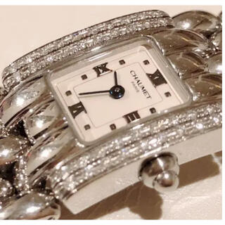 CHAUMET - ショーメ ダイヤベゼル ケイシス ステンレス レディース ダイヤモンド 腕時計