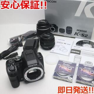リコー(RICOH)の新品同様 PENTAX K-S2 ダブルズームキット ブラック (デジタル一眼)