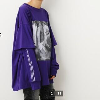 RODEO CROWNS WIDE BOWL - 新品 フェイクレイヤードPHOTOロングTシャツWL
