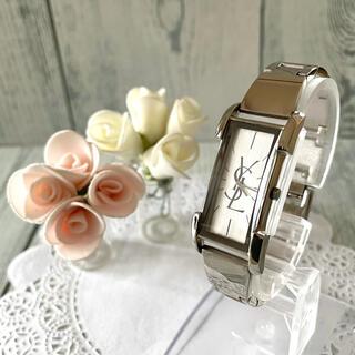 サンローラン(Saint Laurent)の【電池交換済み】Yves Saint Laurent 腕時計 銀 バングル(腕時計)