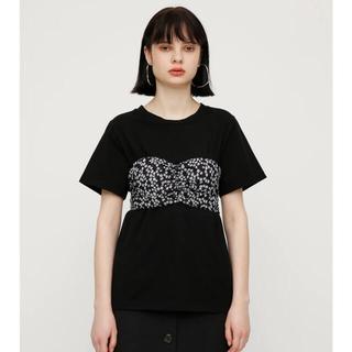 スライ(SLY)のSLY 花柄 Tシャツ VERONIKA DOTS DOCKING(シャツ/ブラウス(長袖/七分))
