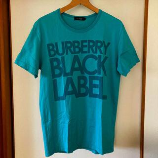 バーバリーブラックレーベル(BURBERRY BLACK LABEL)の美品です!バーバリー ブラックレーベル ビッグロゴ コットンTシャツ(Tシャツ/カットソー(半袖/袖なし))