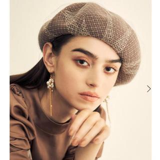 エイミーイストワール(eimy istoire)の新品 eimyistoire   チュールベレー帽(ハンチング/ベレー帽)
