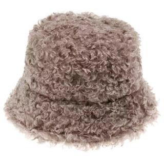 トゥデイフル(TODAYFUL)のPoodle far bucket hat BROWN No.708(ハット)