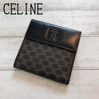 celine - 【極美品】CELINE セリーヌ レディース トリオンフ ロゴ 折り財布 黒