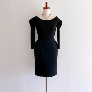 LANVIN - LANVIN ランバン ブラックワンピース ドレス コークンワンピース 34