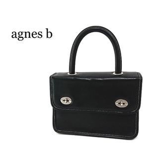 アニエスベー(agnes b.)のagnes b. アニエスベー ハンドバッグ ブラック レザー(ハンドバッグ)