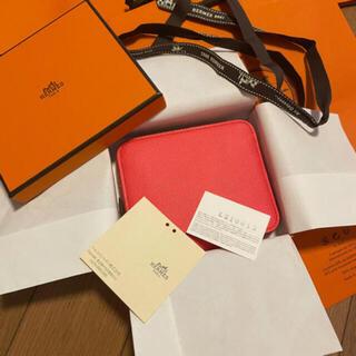 エルメス(Hermes)の8月に購入❣️新品❣️正規エルメスコンパクト財布シルクインエプソンローズテキサス(財布)