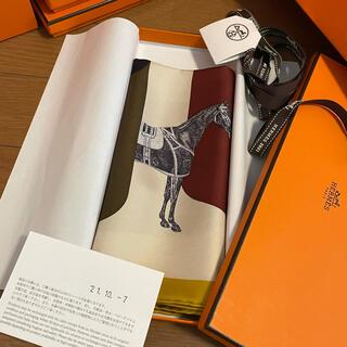 エルメス(Hermes)の今月購入❣️新作新品タグ付き❣️正規エルメスシルクスカーフカレ45(バンダナ/スカーフ)