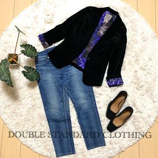 ダブルスタンダードクロージング(DOUBLE STANDARD CLOTHING)のDOUBLE STANDARD CLOTHING ベロア テーラードジャケット(テーラードジャケット)