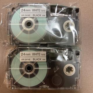 カシオ(CASIO)のネームランド テープカートリッジ 24㎜ 2本セット(その他)