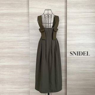 snidel - SNIDEL スナイデル ミリタリーウールスカート サロペットスカート