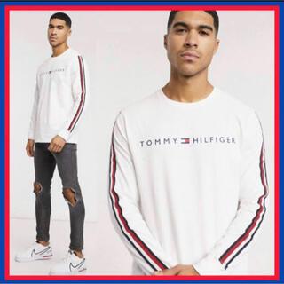 トミーヒルフィガー(TOMMY HILFIGER)の 日本未入荷★トミー TOMMY ロゴ ロング スリーブ Tシャツ US/XL(Tシャツ/カットソー(七分/長袖))