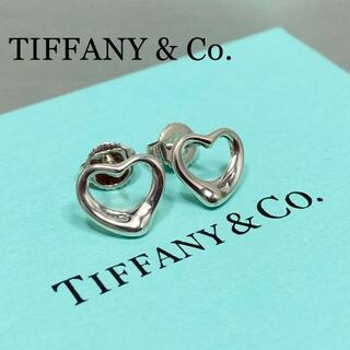 Tiffany & Co. - 新品仕上 ティファニー オープンハート ピアス エルサ ペレッティ シルバー