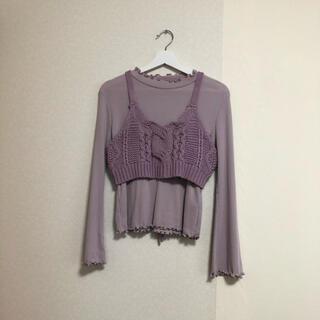 w closet - 【w closet】トップス&ニットビスチェセット