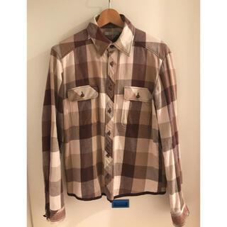 ナンバーナイン(NUMBER (N)INE)のナンバーナイン 02AW NOWHERE MAN期ブロックチェックネルシャツ 3(シャツ)