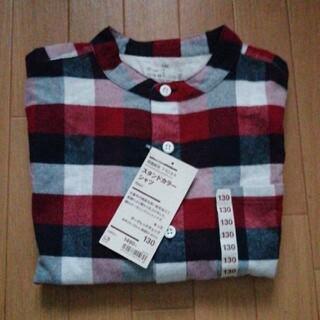 MUJI (無印良品) - [新品未使用] 無印キッズフランネルスタンドカラーシャツ