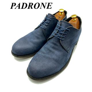 パドローネ(PADRONE)のPADRONE パドローネ ヌバックレザーシューズ ネイビー(ドレス/ビジネス)