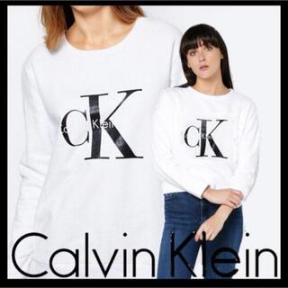 カルバンクライン(Calvin Klein)の 日本未入荷★カルバンクライン CK ロゴ スウェット US/XSサイズ(トレーナー/スウェット)