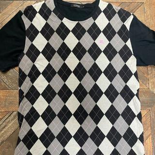 バーバリーブラックレーベル(BURBERRY BLACK LABEL)のクルーネックTシャツ size3 (バーバリーブラックレーベル)(Tシャツ/カットソー(半袖/袖なし))